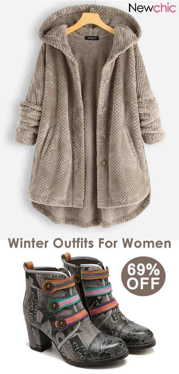 women winter coats & shoes. #wintercoats #casualou…