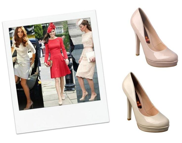 A Kate Middleton não tira o seu scarpin nude dos pés. Para copiá-la basta usar o scarpin Carminha, da Coleção Avenida Brasil por Bottero!