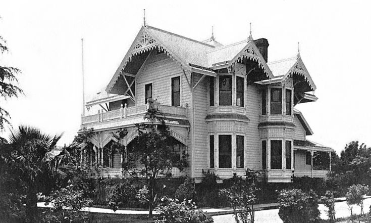 Historic Houses of California - Los Angeles County - Pasadena - Theodore Parker Lukens House (1887)