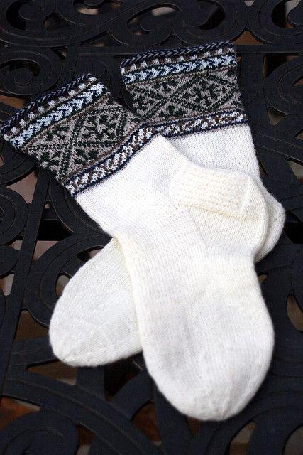 Ravelry: Ilga's Socks pattern by Nancy Bush