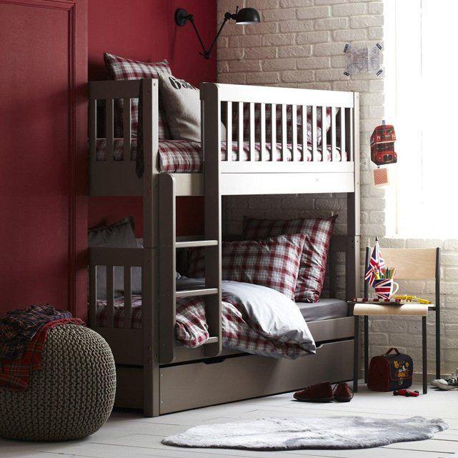 17 meilleures id es propos de chambres lits superpos s sur pinterest li - Lit superpose banquette ...
