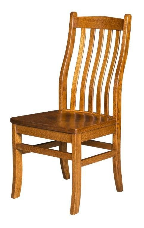 Amish Lincoln Mission Dining Chair. Wooden Dining Room ...