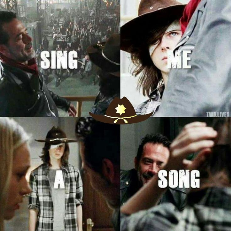 """Sing Me a Song"" | Negan (Jeffrey Dean Morgan) and Carl (Chandler Riggs)"