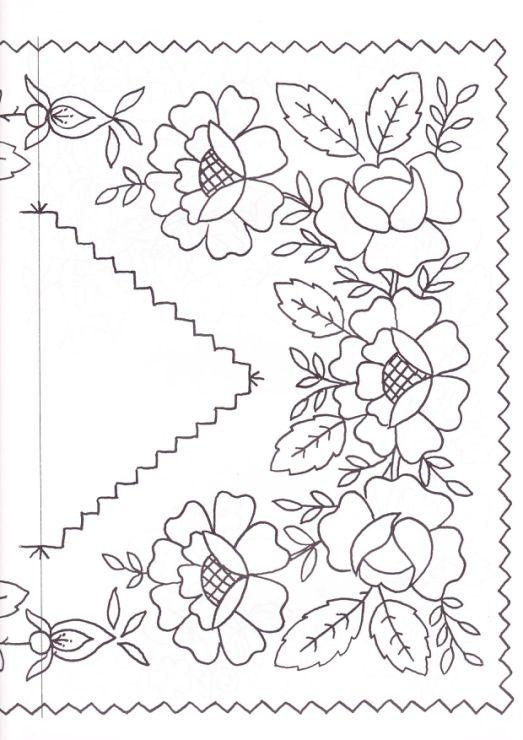 diseño de flores para bordar blusa