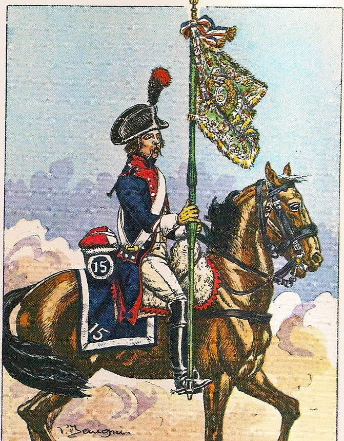 French; 15th Line Cavalry, Marechal-des-Logis Chef-Porte-Etendart, 1799-1802.