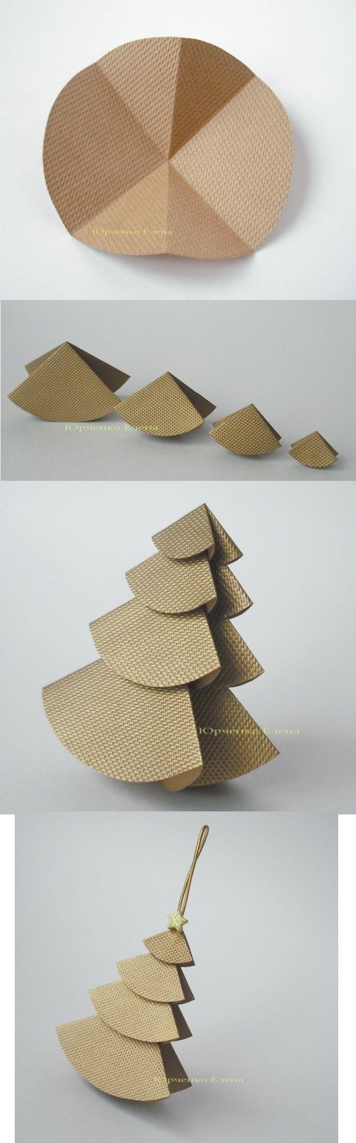 Pinito de cartón para el árbol de navidad