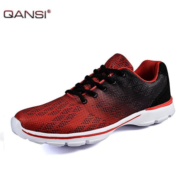 [Visit to Buy] QANSI Gradually Changing Color Men Running Shoes Spring Autumn Breathable Shoes  Outdoor Sport Sneakers For Boy 1678M-2 #Advertisement