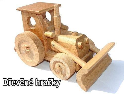 Dřevěné hračky traktory pro kluky