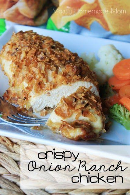 Crispy Onion Ranch Chicken