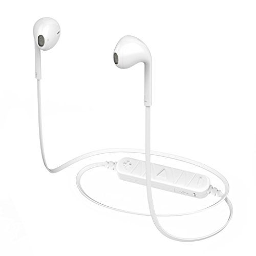 #Wireless Headphones Bluetooth V4.1 Sports Earphones with Mic IPX7 Waterproof HD Sound Bass In-Ear Noise Cancelling for iPhone iOS Samsung Galaxy and Smartphones (White)