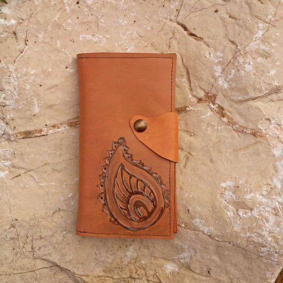 Leather phone case, mehndi inspired smart phone case, India inspired genuine leather phone case, card holder, handmade iPhone 6 case