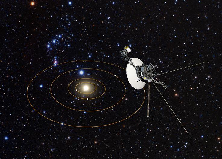 Astronomer har använt NASA: s rymdteleskop Hubble för att mäta den materia som rymdsonderna Voyager 1 och 2 sonder färdas igenom bort från solsystemet.
