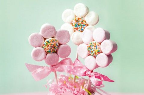 Mother's Day flowers you can eat! - Marshmallow flowers - goodtoknow