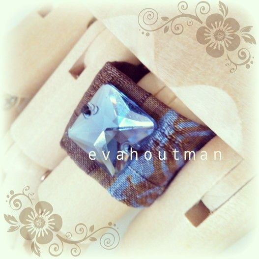#newproject #newring #ring #square #blue #clear #blingblink #batik #handmade #fashionthings #fashion #accessories #custom #creativity
