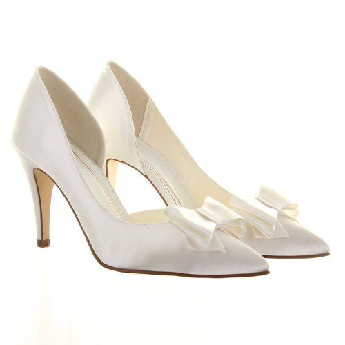 Available at A-Z Wedding Services, Stourport-On-Severn. Beautiful #ivory #bridal #shoes.