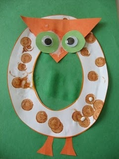 Letter O for Owl craft