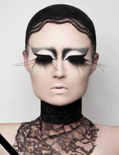 Kim Chi's surreal lashes  ❤'d by http://makeupartistrycairns.com.au/  #makeup #lashes #eye #inspiration