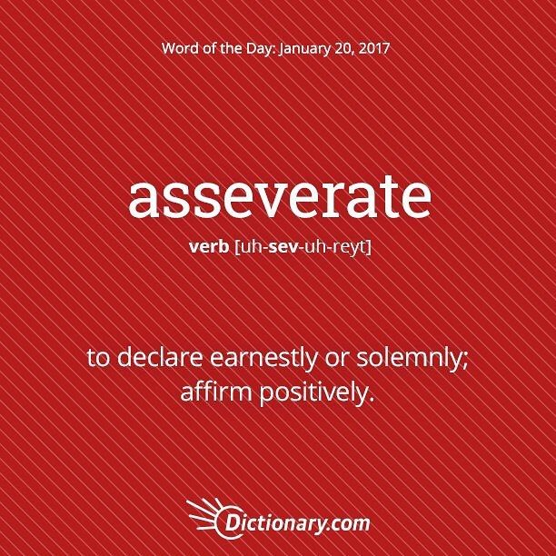 asseverate