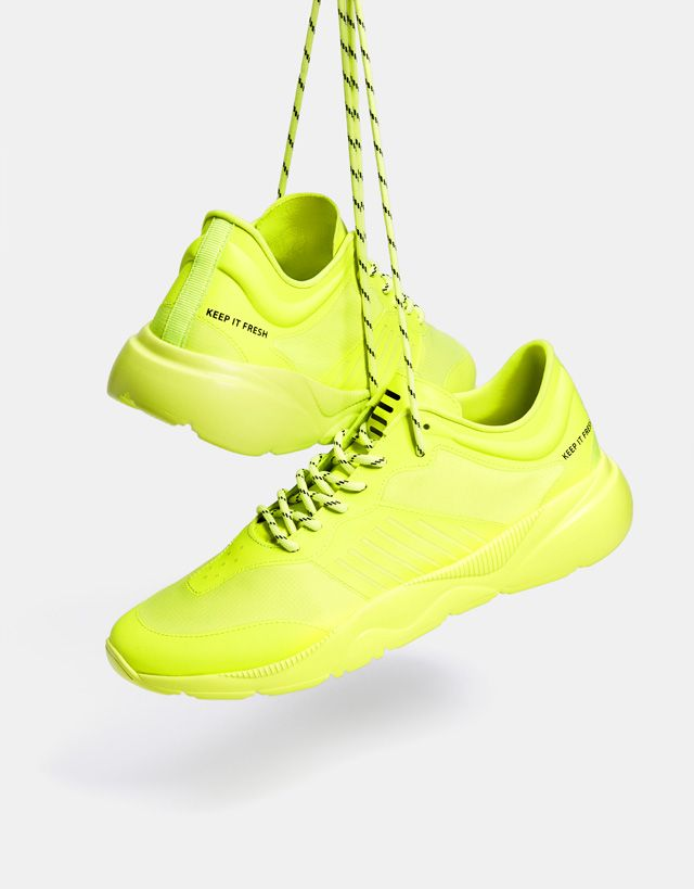 official photos f8334 4e6db Men s neon sneakers - Bershka  fashion  product  shoes  zapatos  cool   trend  trendy  young  ss18  new  sport  sporty  zapatillas  deportivas   trainers ...