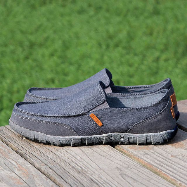 Big Size 39-47 Men Canvas Shoes, Ultralight Men Casual Shoes, Top Quality Comfortable Slip-On Lazy Shoes Men