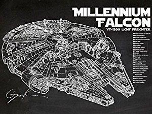 Millennium Falcon Print - for the Star Track fan