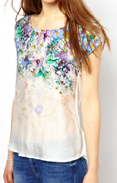 White Floral T-Shirt – Trendy Road