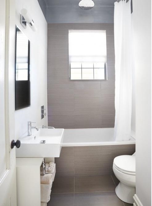 White colored small bathroom ideas