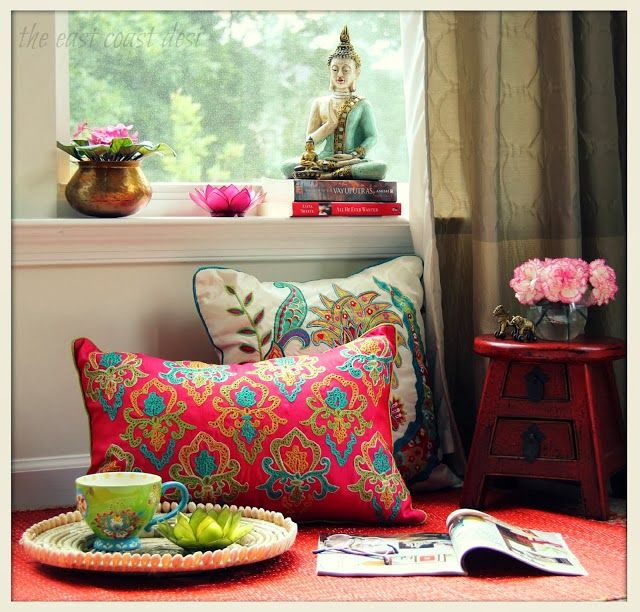 Buddha, eclectic decor, Indian. blogged on My Dream Canvas. Copyright The East Coast Desi
