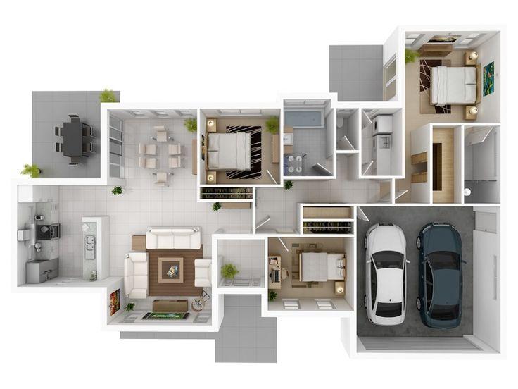 34 best Floor plans images on Pinterest Architecture, Modern - k amp uuml che landhaus modern