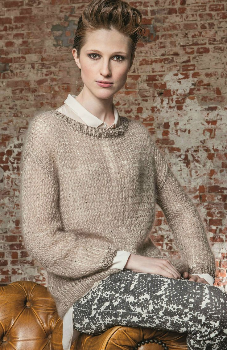 "Modell 15: Pullover aus SCHULANA ""Kid-Paillettes""."