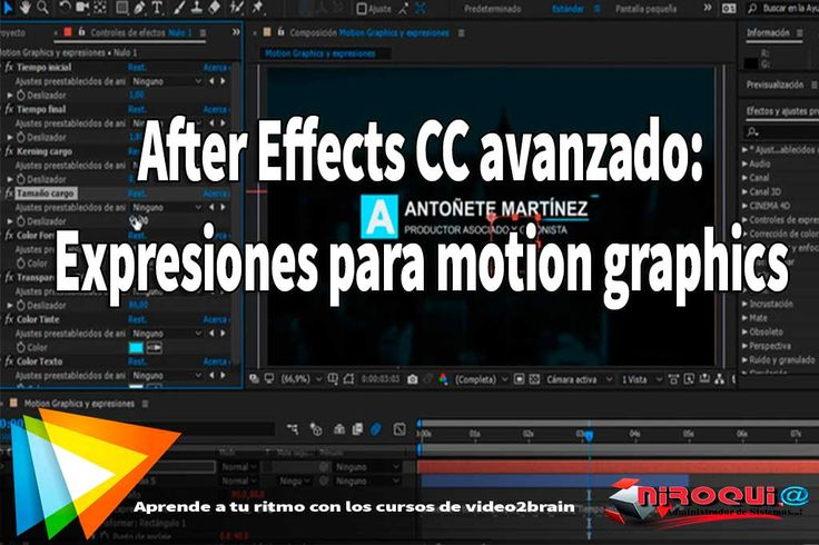 Descargar  Curso After Effects CC avanzado Expresiones para motion graphics video2brain[MEGA] 1 link