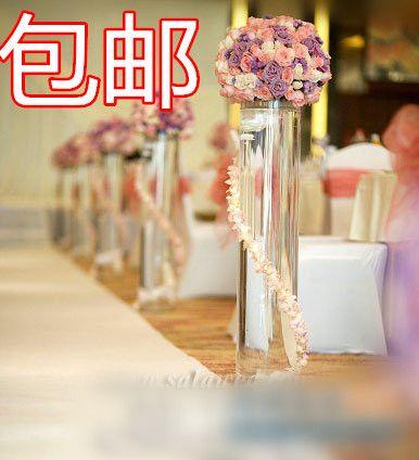 Акриловые пластиковые пакеты Разбитая ваза свадьба барабаны прозрачная ваза высокая дорога ведет прием украшения свадебного стола