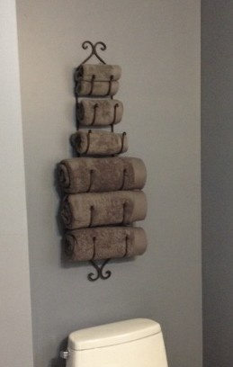 Wine Rack Used For A Towel Holder In Small Bathroom Wayfair Home Pinterest And As