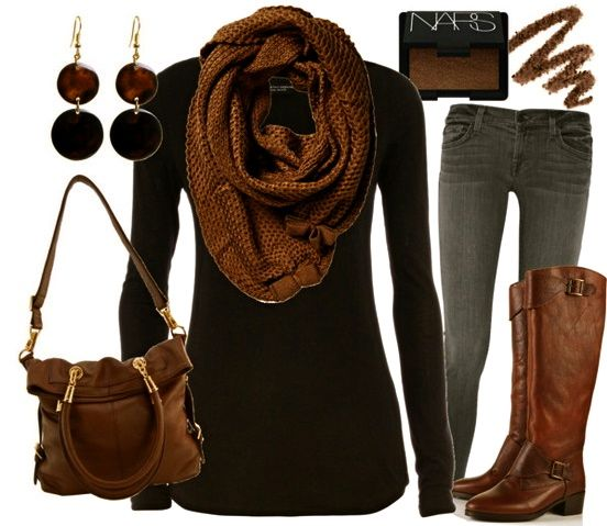 black and brown - bold but doable