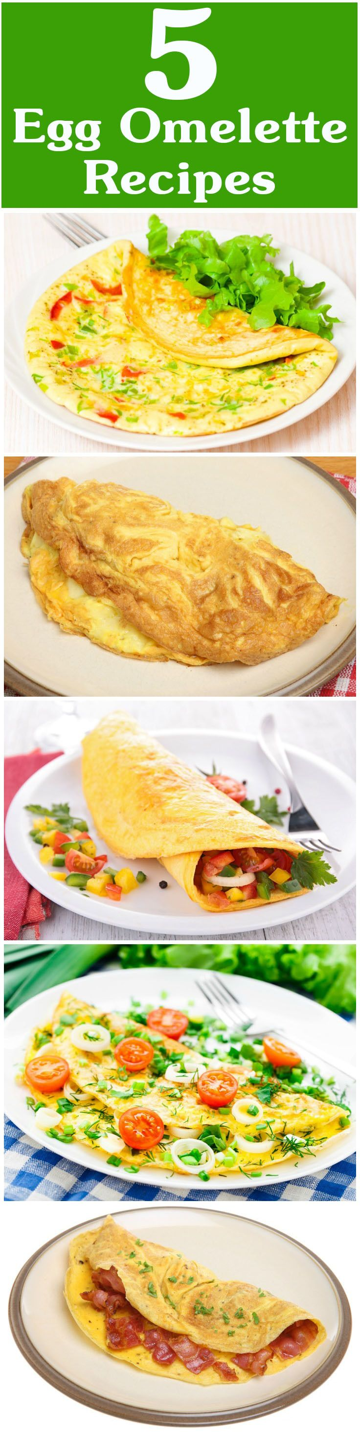 Omelets are one of the quickest and tastiest ways to include egg in your diet. Here are 5 yummy egg omelette recipes for you to try out today. Read on to know more