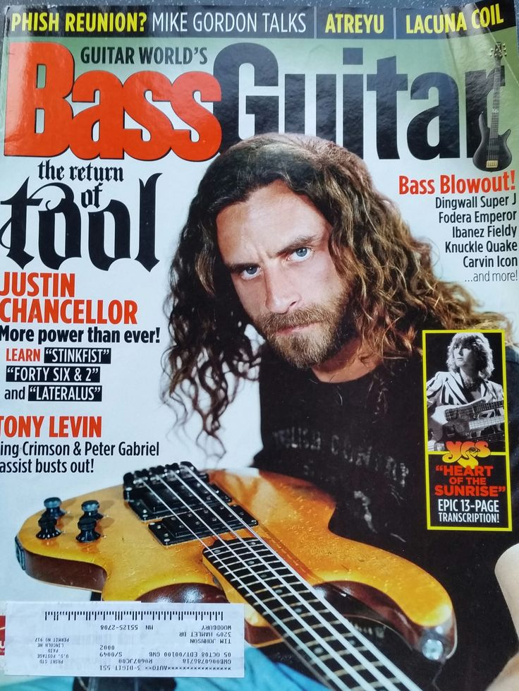 Guitar World's Bass Guitar magazine July 2006 Justin Chancellor Feature 1 of 9