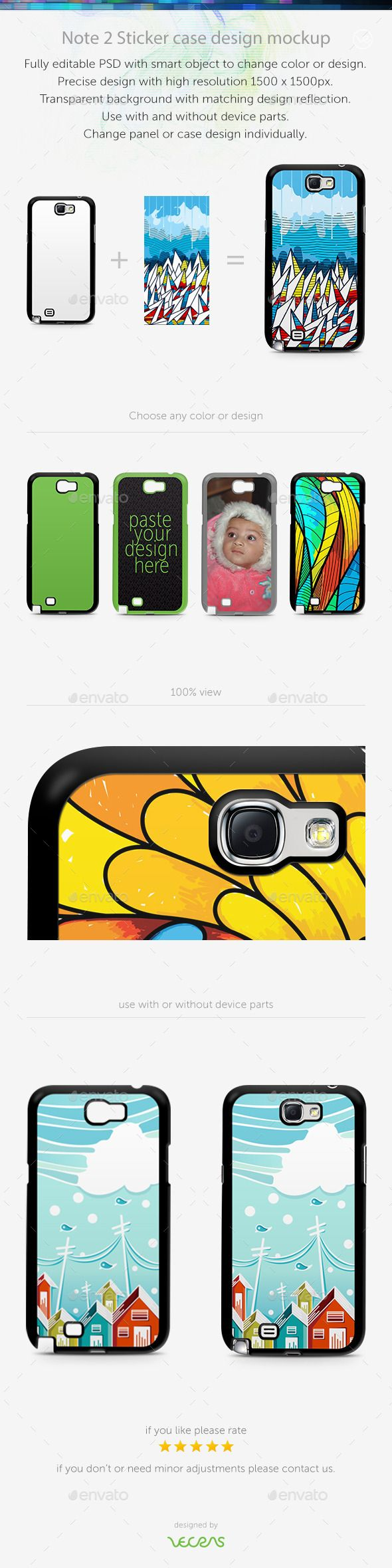 Note 2 Sticker Case Design Mockup — Photoshop PSD #mobile #Samaung Galaxy Note 2 • Available here → https://graphicriver.net/item/note-2-sticker-case-design-mockup/10400934?ref=pxcr
