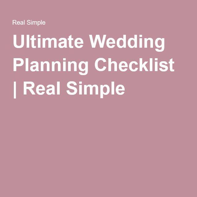 simple wedding planning checklist