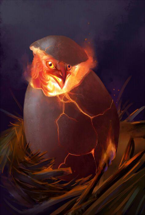 Phoenix Egg (artist: Hannah Böving)
