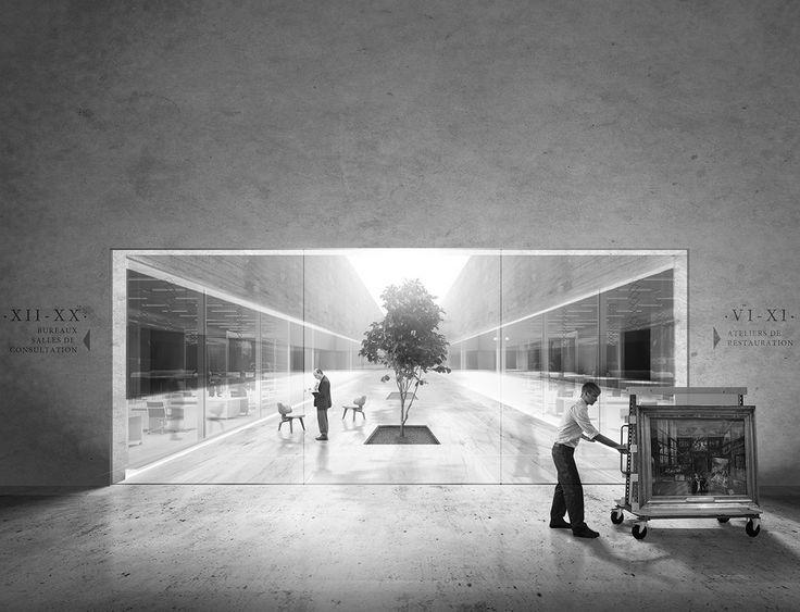 Campo Baeza . Gabrion . nuevo edificio para el Museo del Louvre . Lievin (5 0)