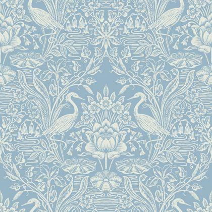 Fine Decor Crane Toile China Blue Wallpaper £12.99. Above the dado rail