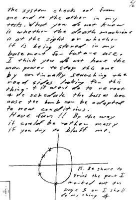 Zodiac Killer, Buss Bomb Letter page 6