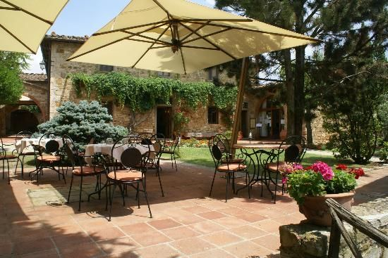 Hotel Belvedere Di San Leonino: petite cour intérieure Chianti, Tuscany