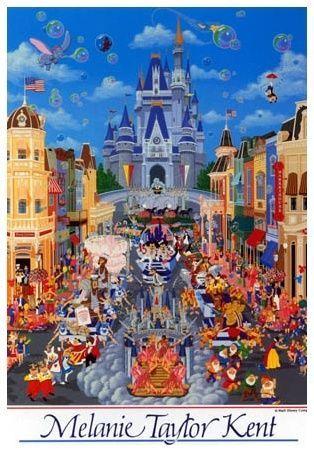 """Jigsaw Puzzles 1000 Pieces """"Walt Disney World"""" Disney Tenyo D 1000, Melanie Taylor Kent"""