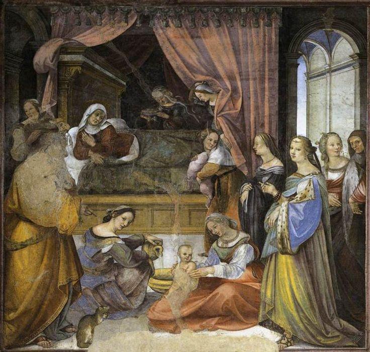 Girolamo Del Pacchia - The Birth of the Virgin - WGA09522 - Oratorio della Compagnia di San Bernardino - Wikipedia