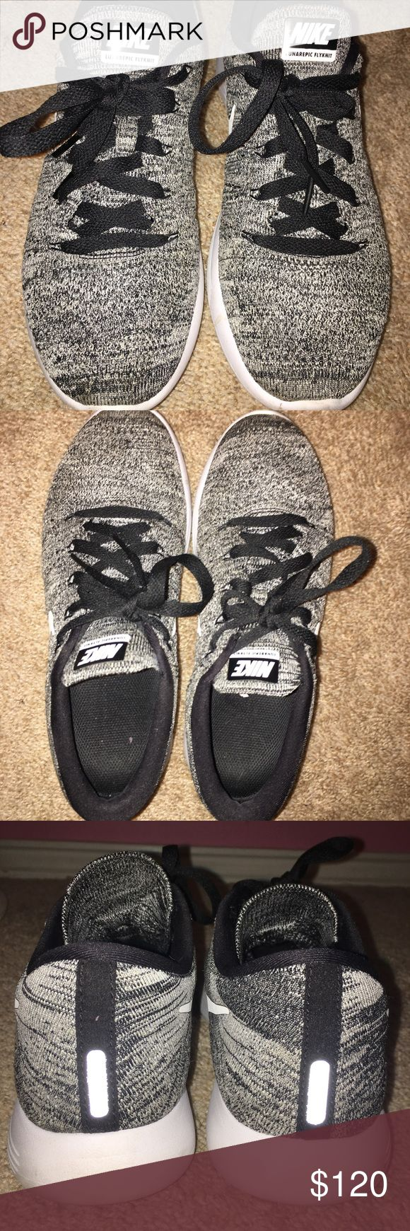 Nike flyknit Women's Nike lunarepic low flyknit • size: 8.5 • color: Oreo • great condition • breathable and lightweight • Nike Shoes Athletic Shoes