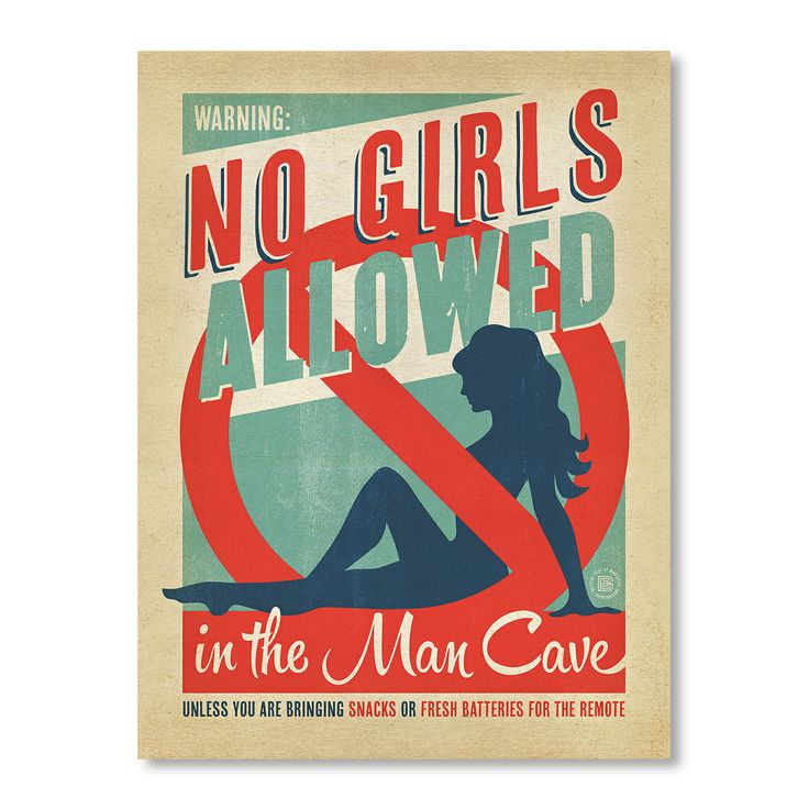 No Girls Allowed - Art Print by For The Boys Room on POP.COM.AU