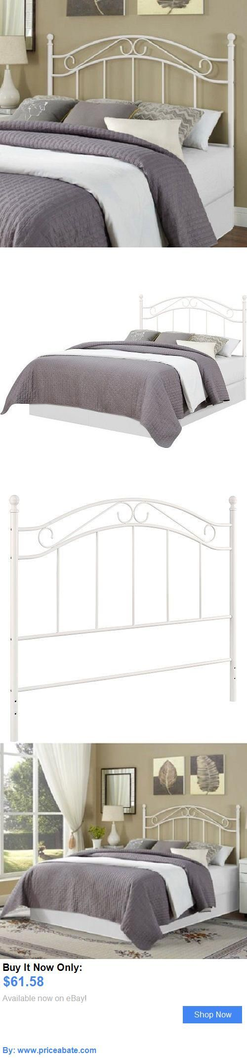 bedding white queen full size metal bedroom headboard bed frame furniture mainstays new buy it - Buy Queen Bed Frame