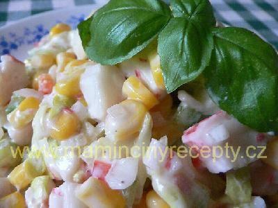 Surimi v zeleninovém salátu