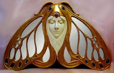 Art Nouveau Butterfly mirror - what creativity and craftsmanship